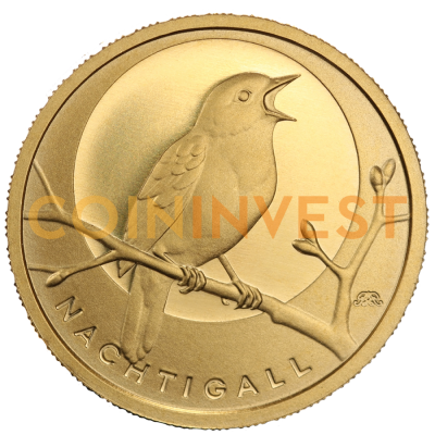 20 Euro German Native Birds Nightingale | Gold | 2016 | Mintmark A