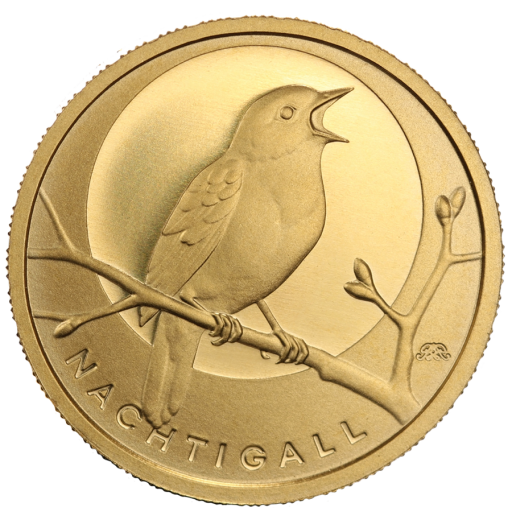 20 Euro German Native Birds Nightingale | Gold | 2016 | Mintmark F