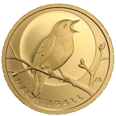20 Euro German Native Birds Nightingale | Gold | 2016 | Mintmark G