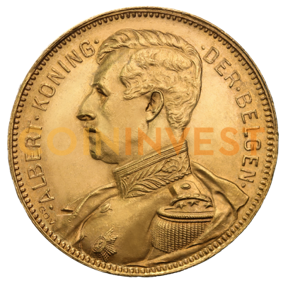 20 Francs Albert I. Belgien | Gold | 1909-1934