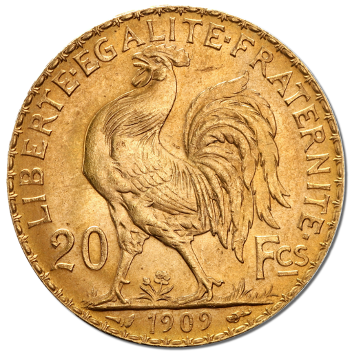 20 French Francs Marianne Rooster Gold Coin (1899-1914)