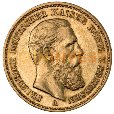 20 Mark Emperor Friedrich III Prussia Gold Coin (1888)