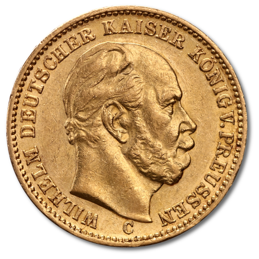 20 Mark Emperor Wilhelm I Prussia Gold Coin (1871-1888)