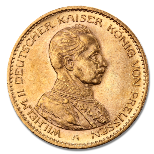20 Mark Kaiser Wilhelm II. Preußen Uniform | Gold | 1913-1914