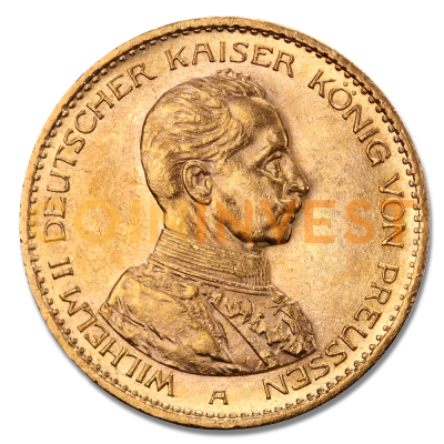 20 Mark Emperor Wilhelm II Prussia Uniform Gold Coin (1913-1914)