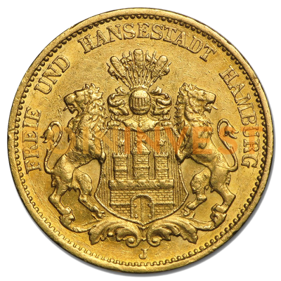 20 Mark | Free Hanseatic City of Hamburg | Gold | 1875-1913