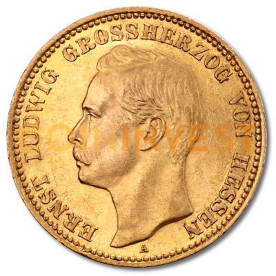 20 Mark Grand Duke Ernst Ludwig Hessia-Darmstadt | Gold | 1890-1915
