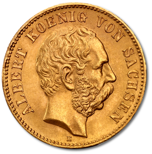 20 Mark Roi Albert I Saxe | Or | 1873-1902