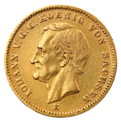 20 Mark King Johann Saxony | Gold | 1872-1873