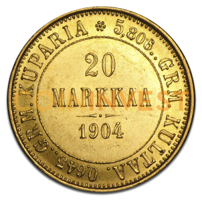 20 Finnland Mark | Gold | 1860-1913