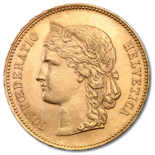 20 Francs Suisses Helvetica | Or | 1883-1896