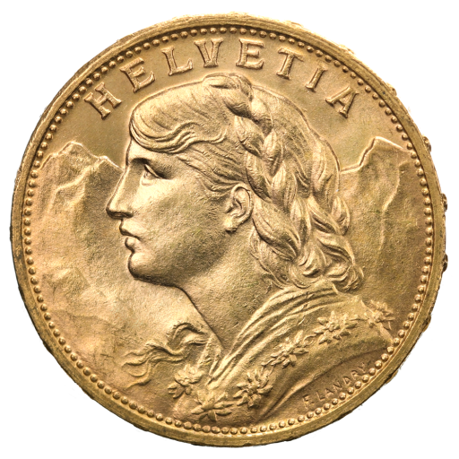 20 Swiss Francs Vreneli | Gold | 1897-1949