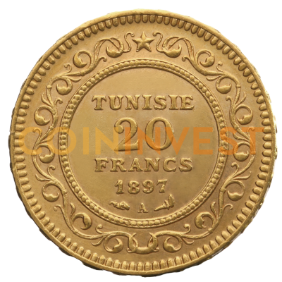 20 Tunisian Francs | Gold | mixed years