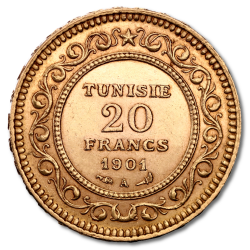 Gold Tunisian Francs