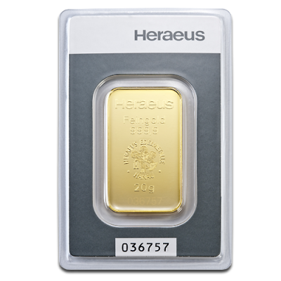 20g Gold Bar | Heraeus
