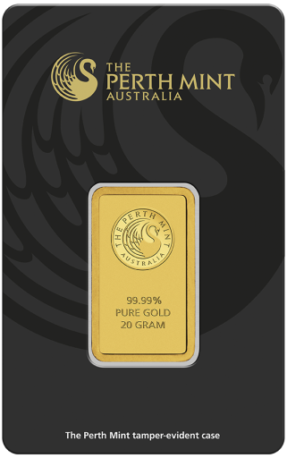 20g Goldbarren | Perth Mint | mit Zertifikat