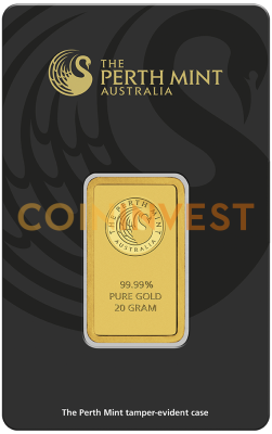 20g Gold Bar | Perth Mint | with Certificate