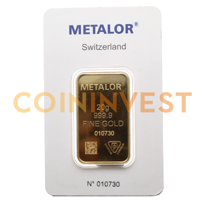 20g Gold Bar | Metalor