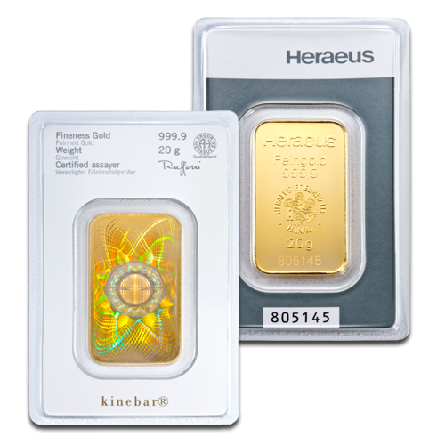 20g Gold Bar | Kinebar® | Heraeus
