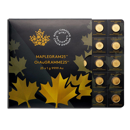 25 x 1g MapleGram25 | Gold | 2015