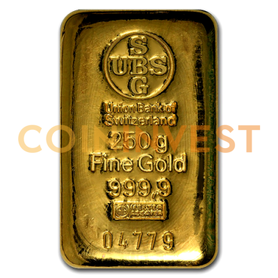 250g Gold Bar Ubs Coininvest