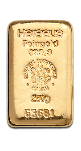 250g Gold Bar | Heraeus