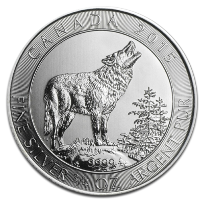 3/4 oz Canadian Grey Wolf | Silver | 2015