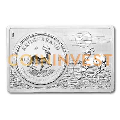 3 oz Krugerrand Silver Coin and Bar (2017)