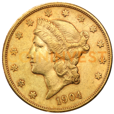"20 Dollar Double Eagle ""Liberty Head"" 
