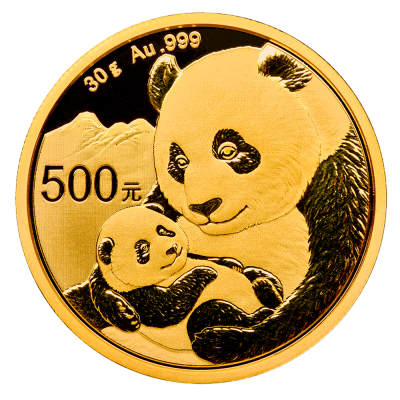 30g China Panda Gold Coin (2019)