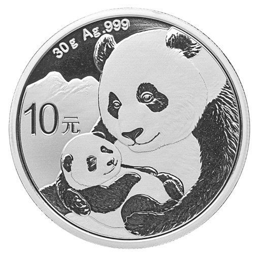 30g China Panda Silbermünze (2019)