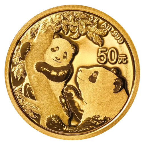 3g China Panda Goldmünze (2021)