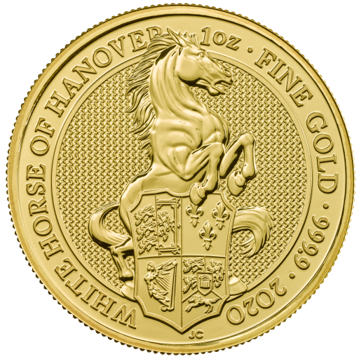 1 oz Queen's Beasts White Horse of Hanover Gold Coin (2020)
