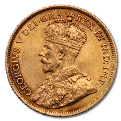 George V Gold Coin - 5 Canadian Dollars 1912-1914