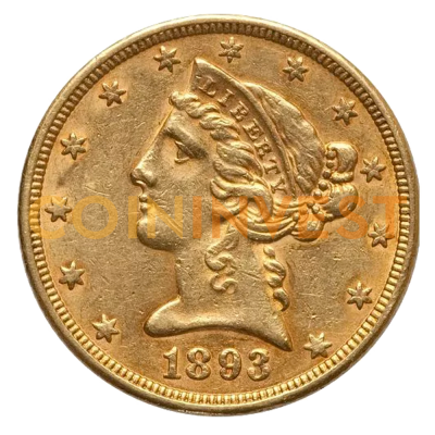 "5 Dollar Half Eagle ""Liberty Head"" 