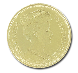5 Dutch Guilders Wilhelmina | Gold | 1892-1933