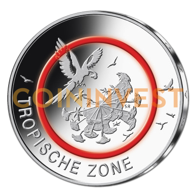 5 Euro Coin Tropical Zone Polymer Ring | Cupronickel | 2017