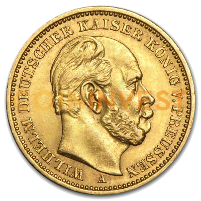 5 Mark Emperor Wilhelm I Prussia Gold Coin (1877-1878)