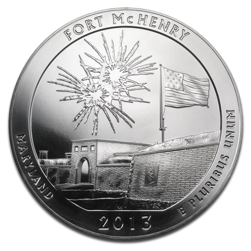 5 oz America the Beautiful - Fort McHenry Ntl. Park, Maryland | Silver | 2013