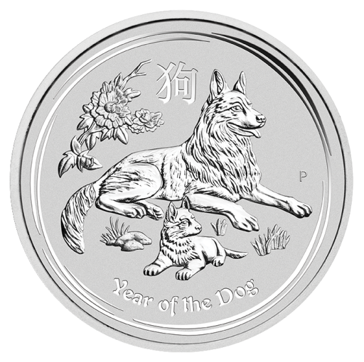5 oz Lunar II Dog | Silver | 2018