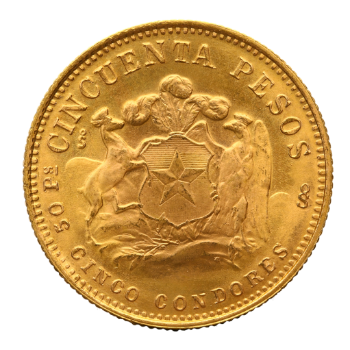 50 Pesos Chileno Liberty | Oro | 1926-1980