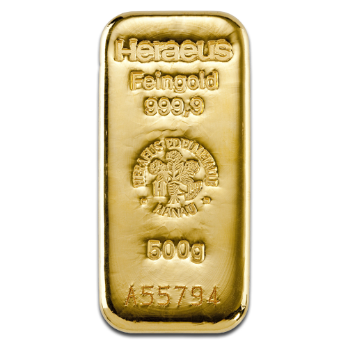 500g Gold Bar | Heraeus