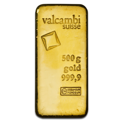 500g Gold Bar | Valcambi | Casted