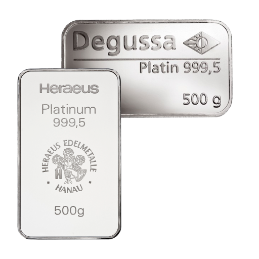 500g Platinum Bar | different manufacturers