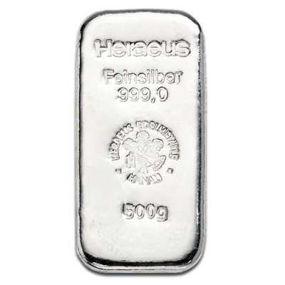500g Silver Bar | different manufacturers