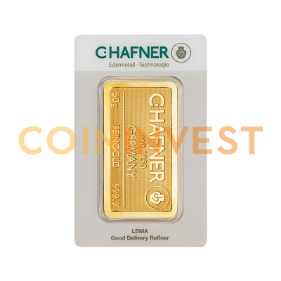 50g Gold Bar | C.Hafner