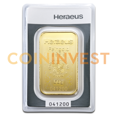 50g Gold Bar | Heraeus