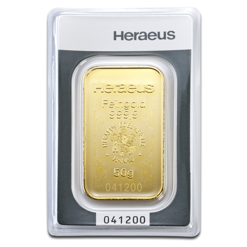 50g Gold Bar Heraeus