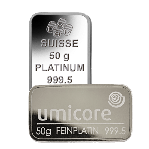 50g Platinum Bar | different manufacturers