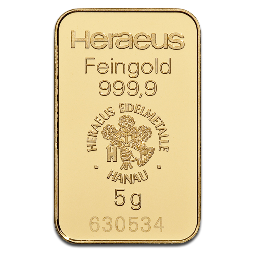5g Gold Bar | Heraeus | 2nd choice